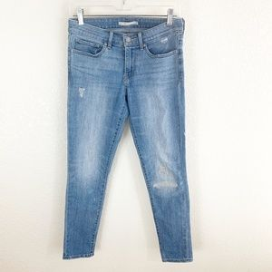 Levi's 711 Light Wash Skinny Jeans 27